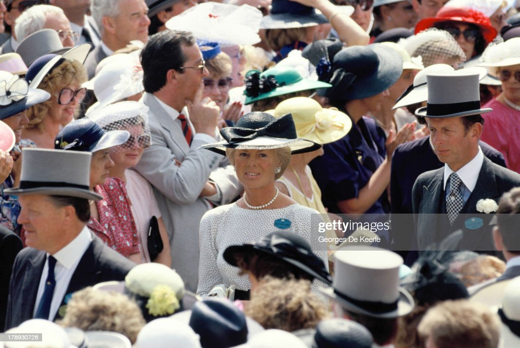 katharine duchess of kent in the crowd at royal ascot on june 22