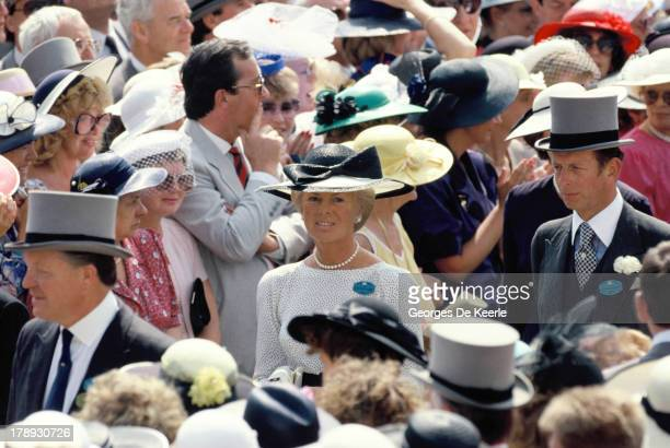 Katharine Duchess of Kent in the crowd at Royal Ascot on June 22 1989 in Ascot England