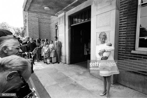 Katharine Duchess of Kent leaving Kings College Hospital n Denmark Hill London with her six day old son Lord Nicholas Windsor The news of the birth...