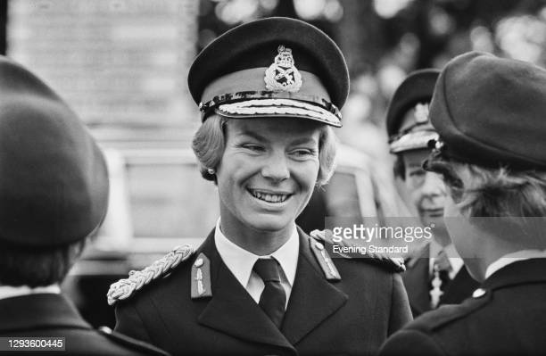 Katharine, Duchess Of Kent visits a WRAC college in Camberley, UK, August 1967.