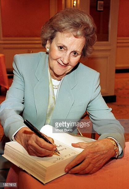 Katharine Graham attends a book signing luncheon in 1997 in Los Angeles CA Graham died July 17 2001 in Boise ID of injuries suffered in a fall that...