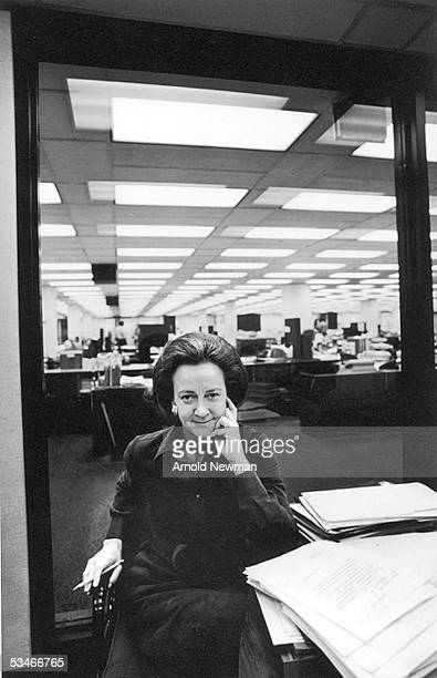 Katharine Graham Pulitzer Prizewinning writer and chairperson of the executive committee of the Washington Post company poses for a portrait at her...