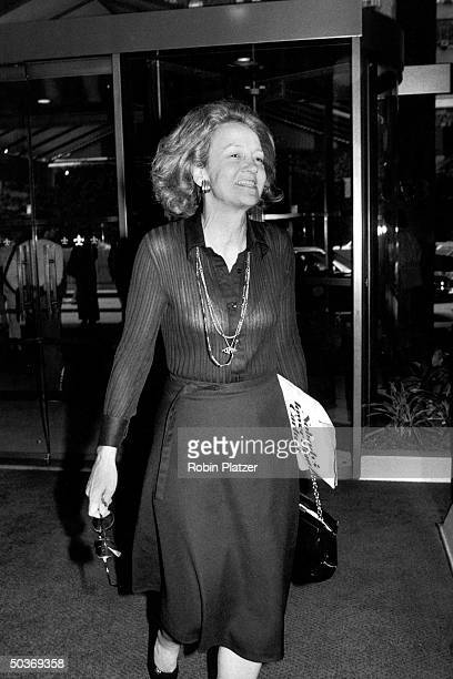 Katharine Graham widow of publisher Philip Graham outside the UN building