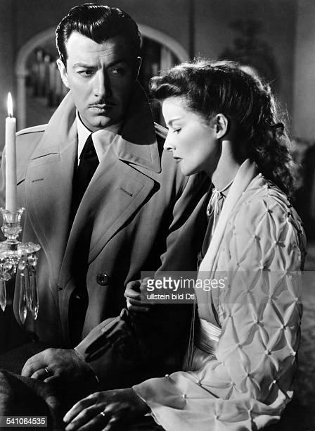 Katharine Hepburn *Schauspielerin USAmit Robert Taylor in 'Der unbekannteGeliebte' 1946