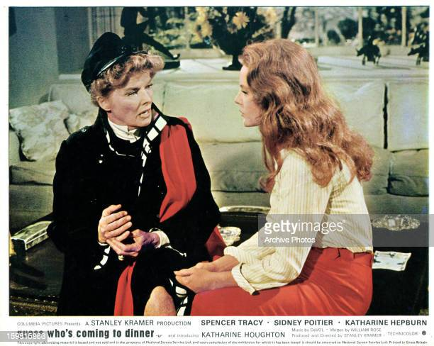 Katharine Hepburn and Katharine Houghton having a talk in a scene from the film 'Guess Who's Coming to Dinner' 1967