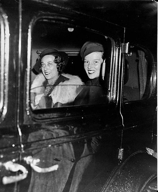Katharine Hepburn (right) and Mrs. Catherine Harding Taylor