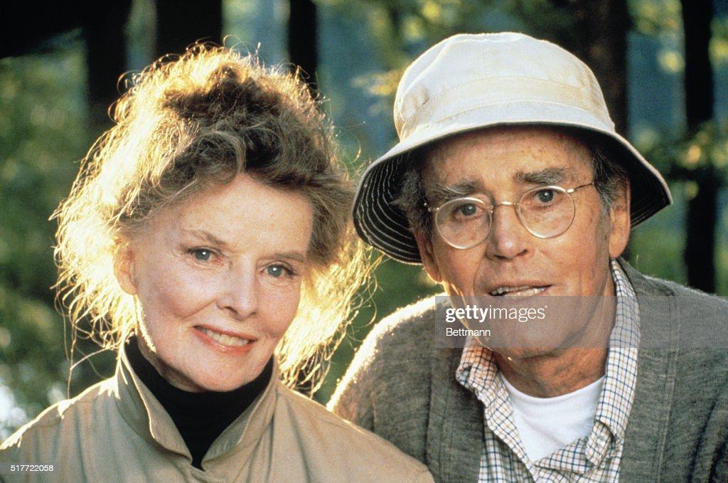 Katharine Hepburn and Henry Fonda in On Golden Pond : News Photo
