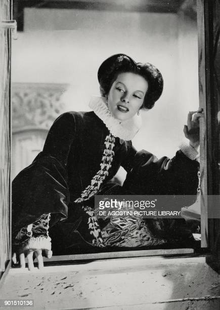 Katharine Hepburn in a scene of the movie Mary of Scotland directed by American director John Ford and shown at the 4th annual Venice International...