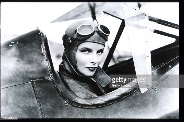 Katharine Hepburn Sits In A Plane In USA Actress Hepburn Won Four Of Twelve Oscar Nominations For Best Actress And Starred In Such Classic Films As...