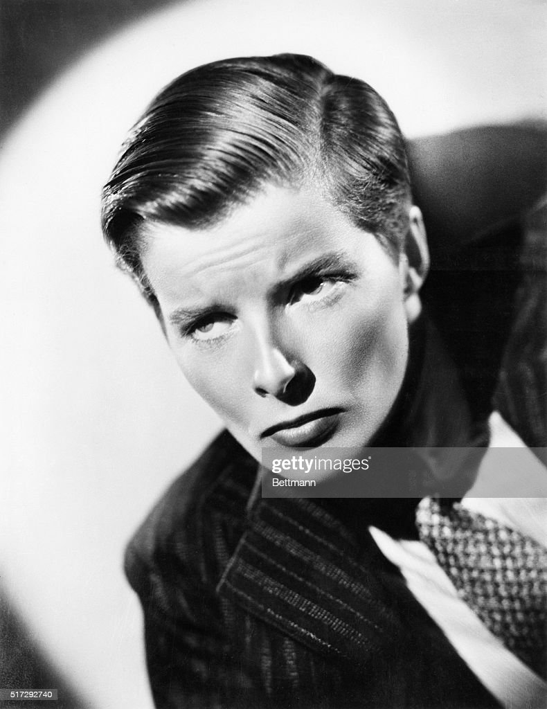 Katharine Hepburn Wears Her Hair Cut Short In A Mens Style For The