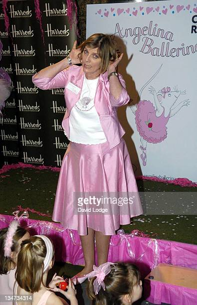 Katharine Holabird writer of Angelina Ballerina during Darcey Bussell and Angelina Ballerina Dance for Red Nose Day 2005 at Harrods in London Great...
