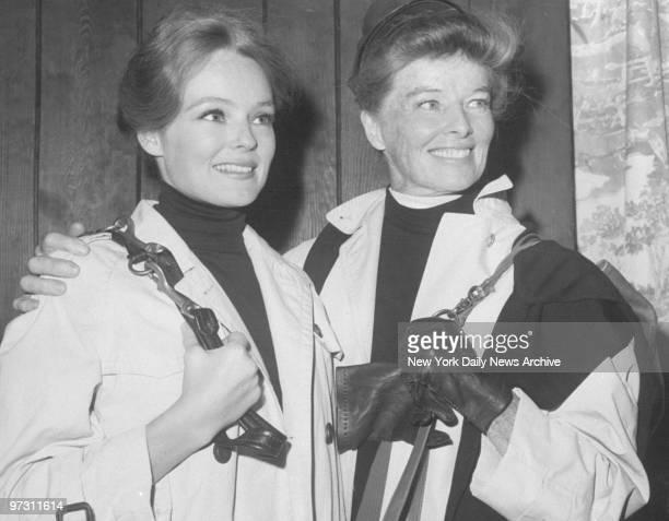 Katharine Houghton and Katharine Hepburn