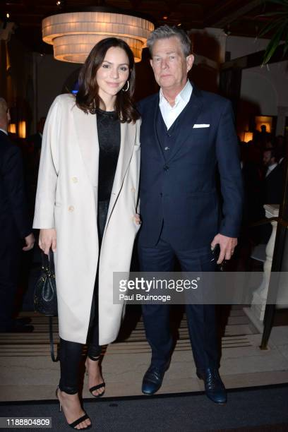 Katharine McPhee and David Foster attend Prostate Cancer Foundation's Dinner At Daniel on November 19, 2019 at Daniel in New York City.