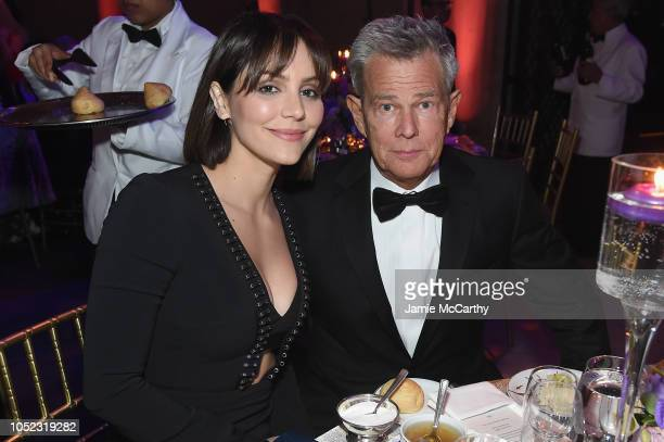 Katharine McPhee and David Foster attend the 2018 Princess Grace Awards Gala at Cipriani 25 Broadway on October 16, 2018 in New York City.