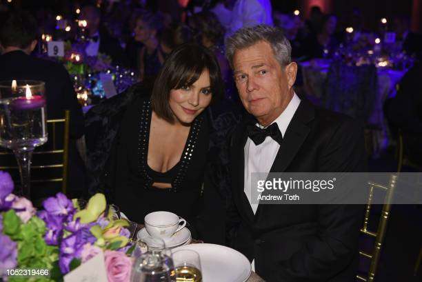 Katharine McPhee and David Foster attend the 2018 Princess Grace Awards Gala at Cipriani 25 Broadway on October 16 2018 in New York City