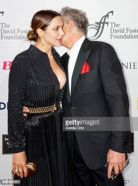 Katharine McPhee and David Foster attend the David Foster Foundation Gala at Rogers Arena on October 21 2017 in Vancouver Canada