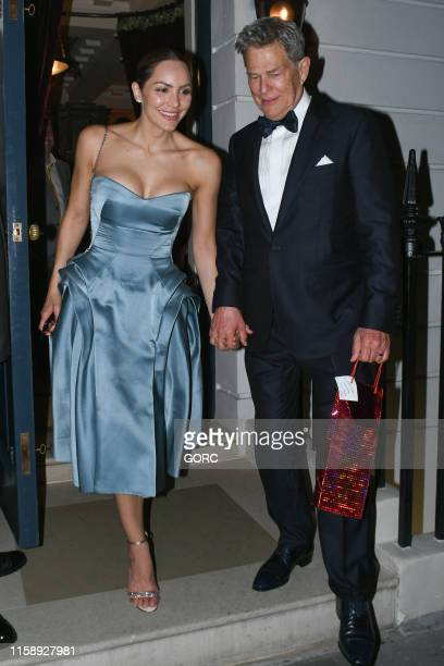 Katharine McPhee and David Foster seen leaving their wedding reception at 25 Albermarle St Mayfair on June 28 2019 in London England