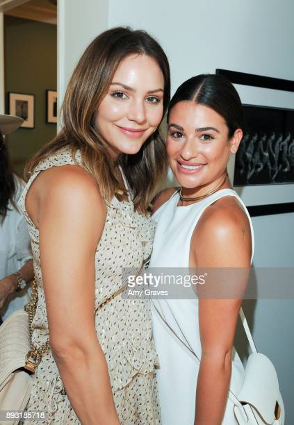 Katharine McPhee and Lea Michele attend the Jen Klein Day of Indulgence on August 13 2017 in Los Angeles California