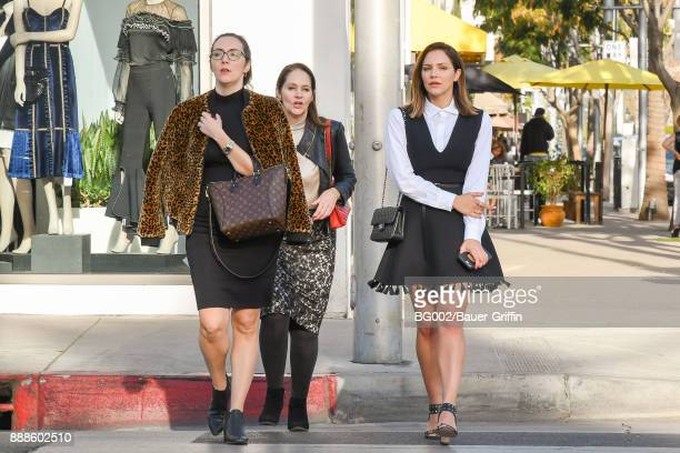 Katharine McPhee and mom Patricia Burch McPhee are seen on December 08 2017 in Los Angeles California