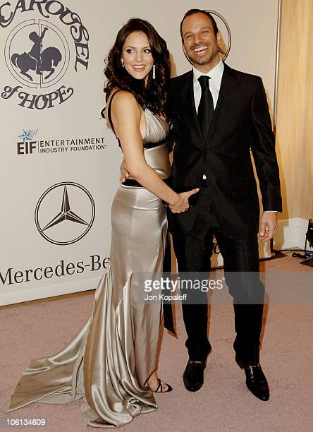 Katharine McPhee and Nick Cokas during Mercedes-Benz Presents the 17th Carousel of Hope Ball - Arrivals at Beverly Hilton Hotel in Beverly Hills,...