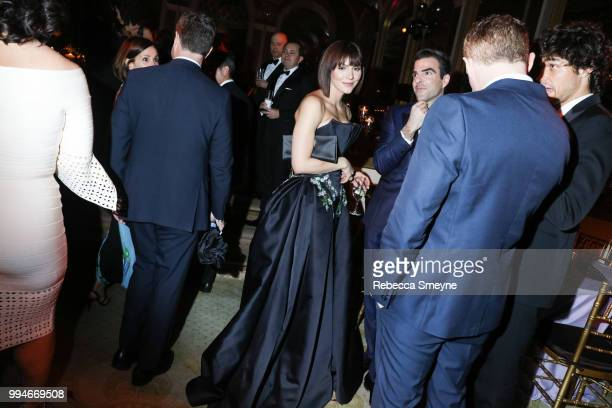 Katharine McPhee and Zachary Quinto attend the Tony Awards Gala at the Plaza on June 10 2018 in New York New York