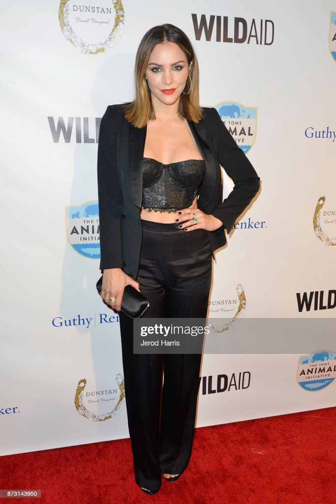 Katharine McPhee arrives at 'Evening With WildAid' at the Beverly Wilshire Four Seasons Hotel on November 11, 2017 in Beverly Hills, California.