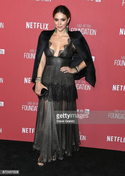 Katharine McPhee arrives at the SAGAFTRA Foundation Patron of the Artists Awards 2017 on November 9 2017 in Beverly Hills California