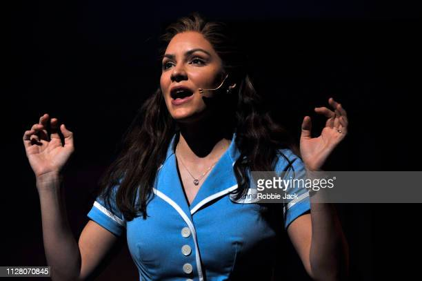 Katharine McPhee as Jenna in Jessie Nelson's Waitress directed by Diane Paulus at The Adelphi Theatre on February 7 2019 in London England