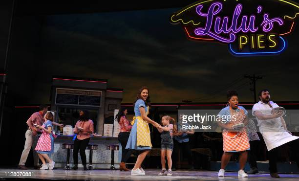 Katharine McPhee as Jenna with artists of the company in Jessie Nelson's Waitress directed by Diane Paulus at The Adelphi Theatre on February 7 2019...