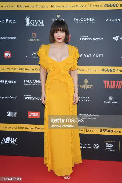 Katharine Mcphee attends Celebrity Fight Night at Arena di Verona on September 8 2018 in Verona Italy