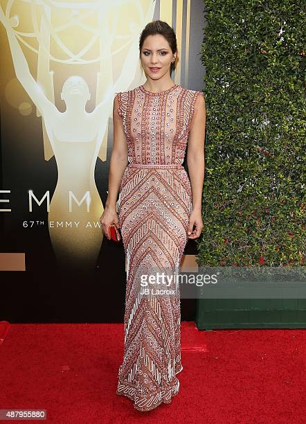Katharine McPhee attends the 2015 Creative Arts Emmy Awards at Microsoft Theater on September 12 2015 in Los Angeles California