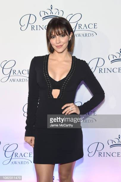 Katharine McPhee attends the 2018 Princess Grace Awards Gala at Cipriani 25 Broadway on October 16 2018 in New York City