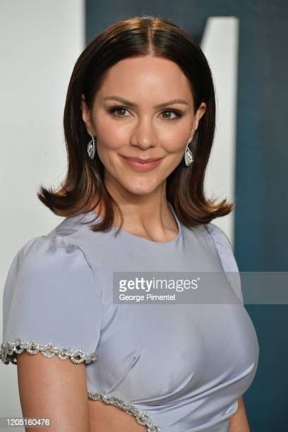 Katharine McPhee attends the 2020 Vanity Fair Oscar party hosted by Radhika Jones at Wallis Annenberg Center for the Performing Arts on February 09,...