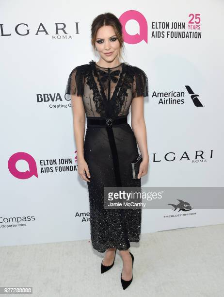 Katharine McPhee attends the 26th annual Elton John AIDS Foundation Academy Awards Viewing Party sponsored by Bulgari celebrating EJAF and the 90th...