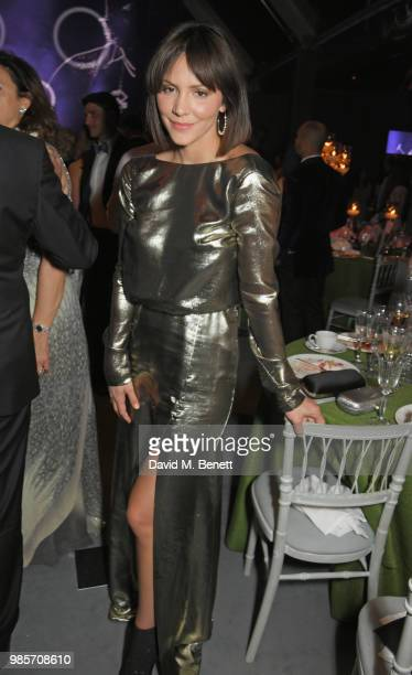 Katharine McPhee attends the Argento Ball for the Elton John AIDS Foundation in association with BVLGARI Bob and Tamar Manoukian on June 27 2018 in...