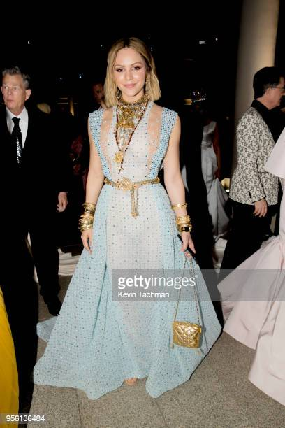 Katharine McPhee attends the Heavenly Bodies: Fashion & The Catholic Imagination Costume Institute Gala at The Metropolitan Museum of Art on May 7,...