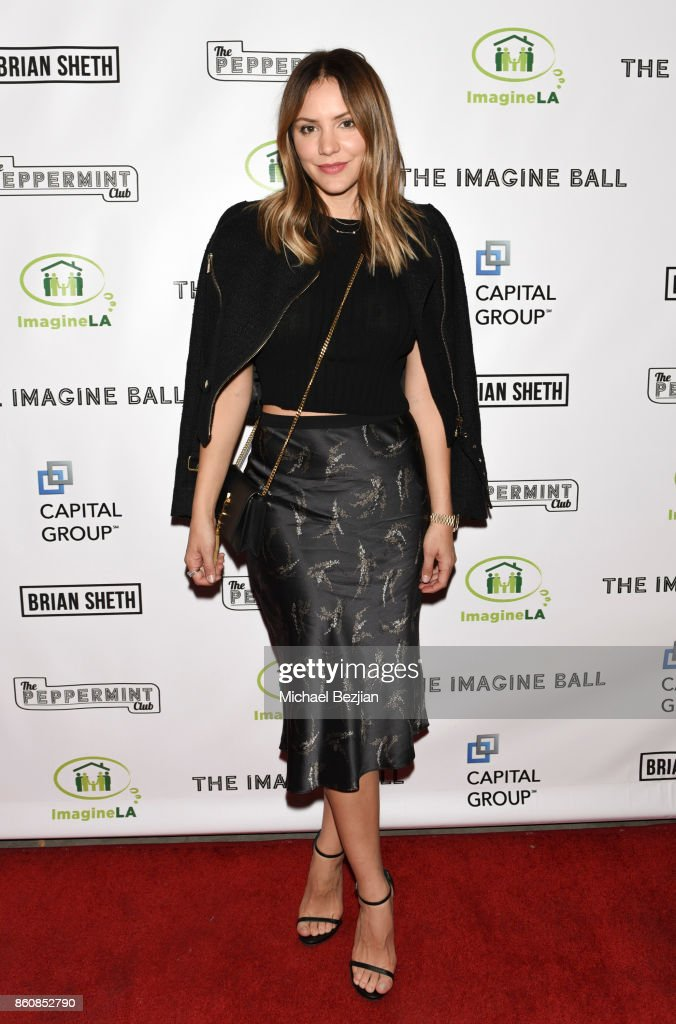 Katharine McPhee attends The Imagine Ball 2017 on October 12, 2017 in West Hollywood, California.