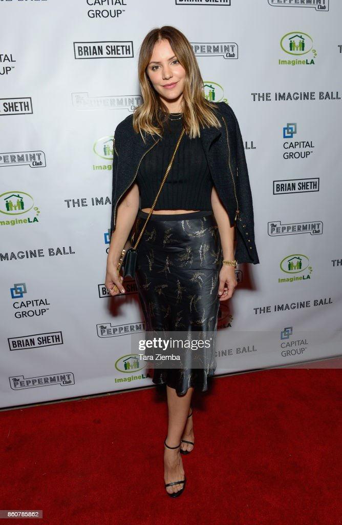 Katharine McPhee attends The Imagine Ball at The Peppermint Club on October 12, 2017 in Los Angeles, California.