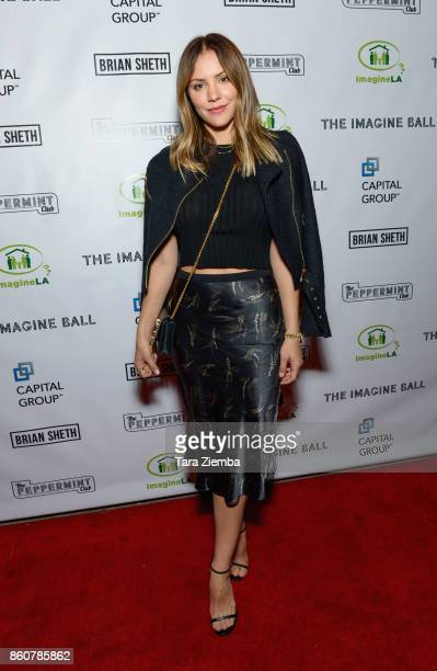Katharine McPhee attends The Imagine Ball at The Peppermint Club on October 12 2017 in Los Angeles California