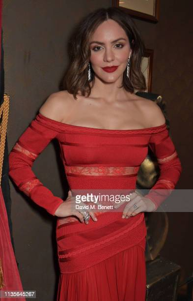 Katharine McPhee attends The Olivier Awards 2019 with Mastercard at The Royal Albert Hall on April 7 2019 in London England
