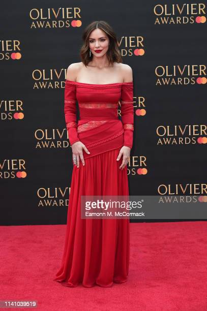 Katharine McPhee attends The Olivier Awards 2019 with MasterCard at the Royal Albert Hall on April 07 2019 in London England