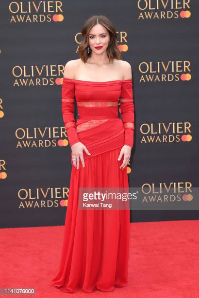 Katharine McPhee attends The Olivier Awards 2019 with MasterCard at Royal Albert Hall on April 07, 2019 in London, England.