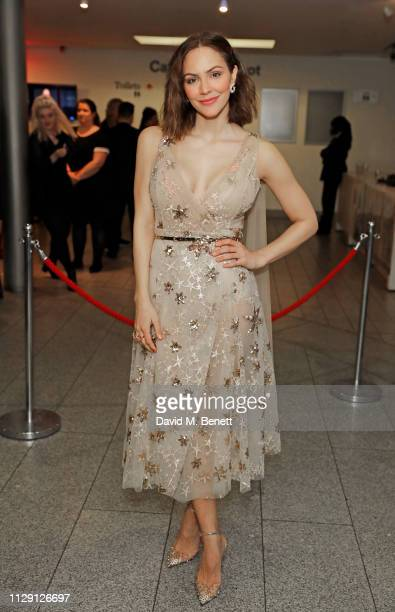 Katharine McPhee attends the press night after party for 'Waitress The Musical' at Cafe At The Crypt St MartinintheFields on March 7 2019 in London...