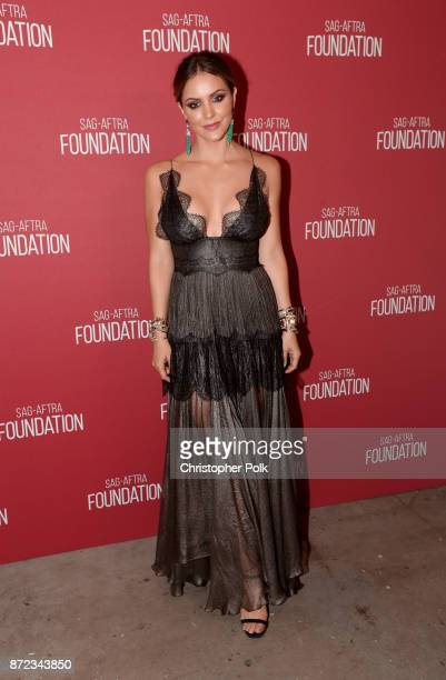 Katharine McPhee attends the SAGAFTRA Foundation Patron of the Artists Awards 2017 at the Wallis Annenberg Center for the Performing Arts on November...