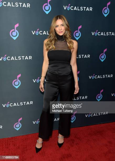 Katharine McPhee attends the Vocal Star music seminar at Loews Hollywood Hotel on August 18, 2019 in Hollywood, California.