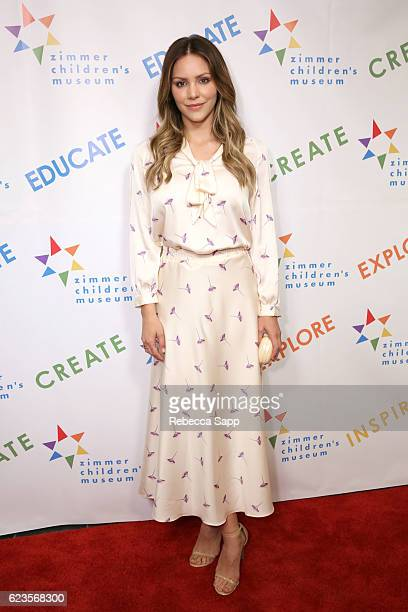 Katharine McPhee attends Zimmer Children's Museum Discovery Award Dinner at Skirball Cultural Center on November 15 2016 in Los Angeles California