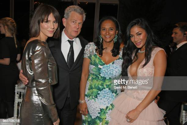 Katharine McPhee David Foster Isabel dos Santos and Nicole Scherzinger attend the Argento Ball for the Elton John AIDS Foundation in association with...