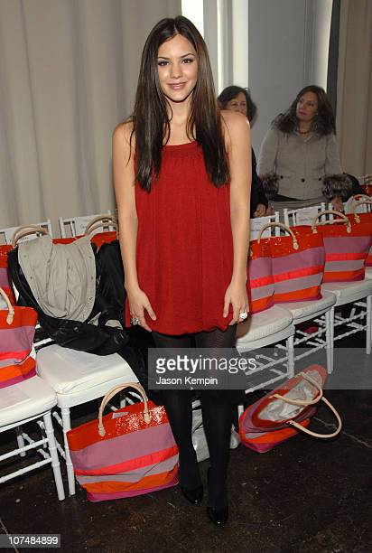 Katharine McPhee during Mercedes- Benz Fashion Week Fall 2007 - Isaac Mizrahi - Front Row and Backstage at 475 Tenth Avenue in New York City, New...