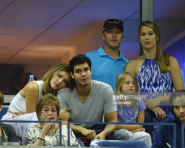 Katharine McPhee Elyes Gable Bode Miller and Morgan Beck Miller attend day 7 of the 2015 US Open at USTA Billie Jean King National Tennis Center on...