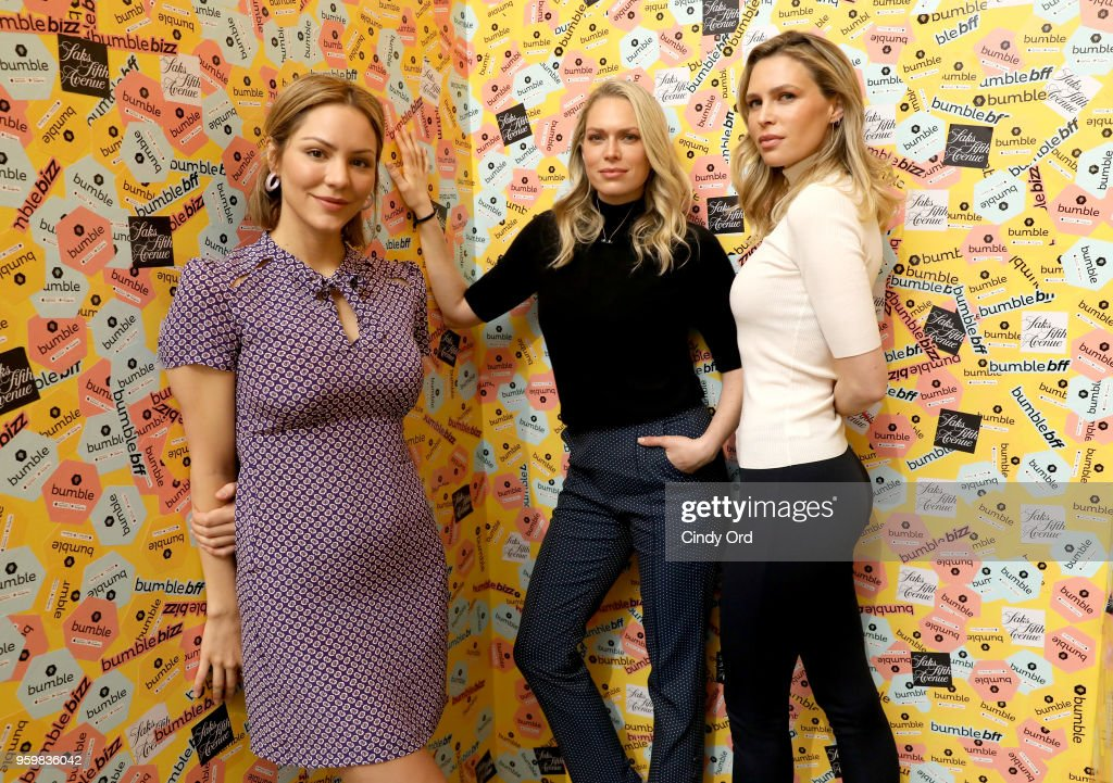 Saks Hosts Panel Discussion On Power Dressing With Bumble's Sara & Erin Foster And Designer Andrea Lieberman : News Photo